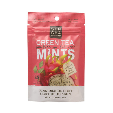 Pink Dragonfruit, Green Tea Mints, Resealable Packet