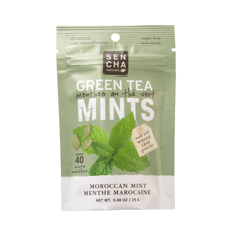 Green Tea Mints - Moroccan Mint | Box of 12 Pocket Mints