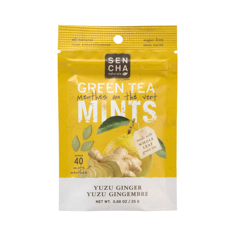 Yuzu Ginger, Green Tea Mints, Box of 12 Pocket Mints