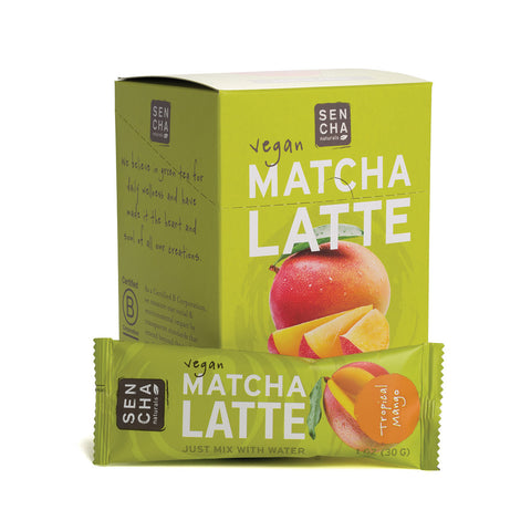 Tropical Mango, Matcha Latte Stick Pack,<br>Box of 12