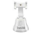 White Track360 Smart AI Motion Tracking Phone Holder Perfect for Recording Vlogs and Tutorials