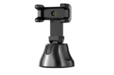 Black Track360 Smart AI Motion Tracking Phone Holder Perfect for Recording Vlogs and Tutorials