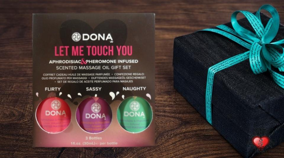 The Let Me Touch You Massage Oil Gift Set by DONA