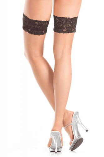 Stay Up Thigh Highs W-bla Lace Top O/S - The Spot Boutique