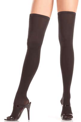 Thigh High Stocking W-zipper Backseam O/S
