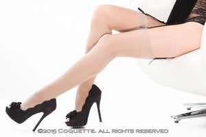 Sheer Thigh High Nude Os - The Spot Boutique