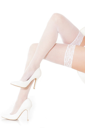 Coquette Lingerie Sheer Stocking White