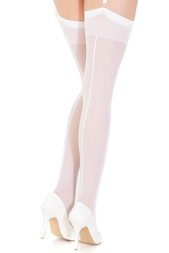 Coquette Lingerie Stocking White