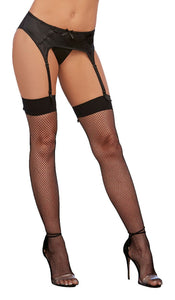 Back Seam Thigh High Dmd Black O-s - The Spot Boutique