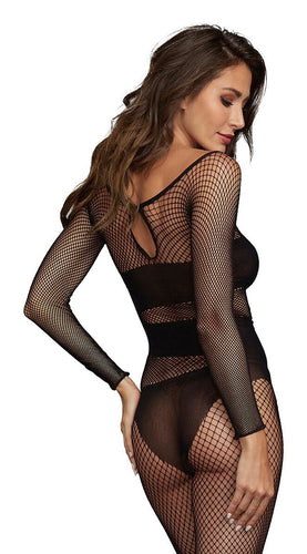 Bodystocking Dmd Black O/S - The Spot Boutique