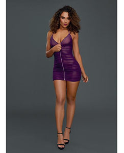Chemise & G-string Plum O-S - The Spot Boutique