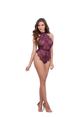 Dream Girl Lingerie Teddy Dmd Mulberry O-s