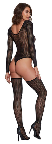Teddy & Stockings Diamond Black O-s - The Spot Boutique