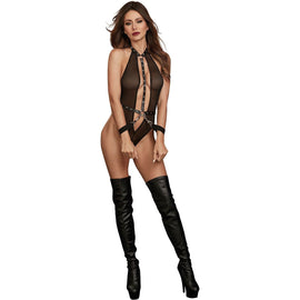 Dream Girl Lingerie Teddy W/ Restraints Black O/s