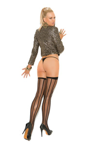 Striped Thigh High - The Spot Boutique
