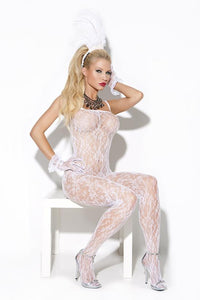 Elegant Moments Lingerie Vivace Body Stocking White O-s