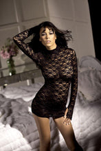 Load image into Gallery viewer, Vixen Long Sleeve Mini Dress O-S