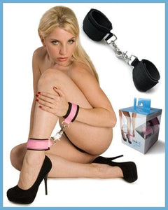 Kink Labs Kinklab Neoprene Pink On Black Cuffs