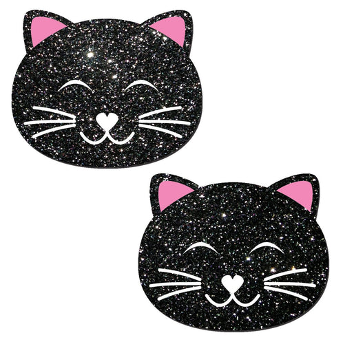 Pastease Kitty Cat Black Glitter