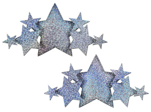 Pastease Pastease Demi Silver Glitter Star Breast Covers