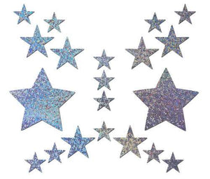 Pastease Pastease Set Silver Glitter Star With Mini Stars