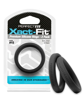 Perfect Fit Perfect Fit Xact-fit #15 2 Pk Black