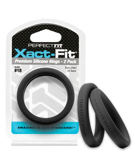 Perfect Fit Perfect Fit Xact-fit #18 2 Pk Black