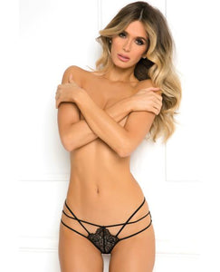 RENE ROFE Batting Eyelash Buttless Bikini Black M-L