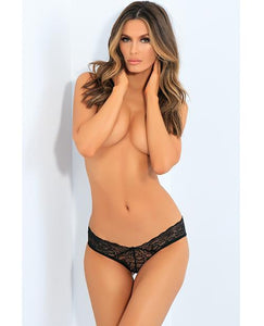 RENE ROFE All Tied Up Open Back Panty Black