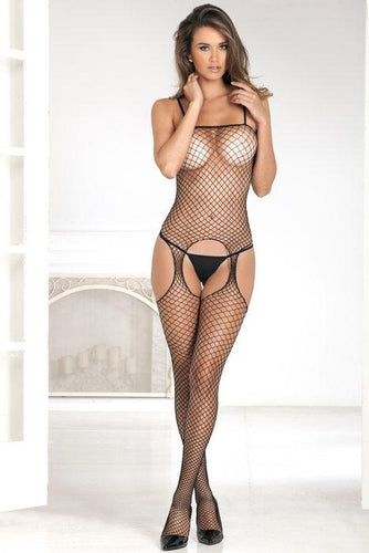 RENE ROFE Industrial Net Suspender Bodystocking O/S