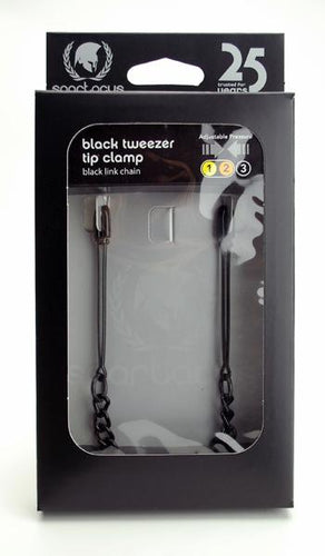 Spartacus Spartacus Black Tweezer Clamp With Link Chain