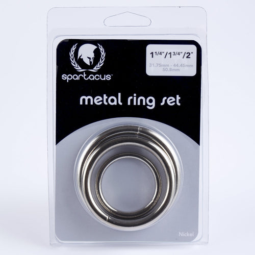 Spartacus Spartacus Metal Cock Ring Set