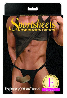 Sport Sheets SPortsheets Brown Everlaster Wishbone Hollow Strap On