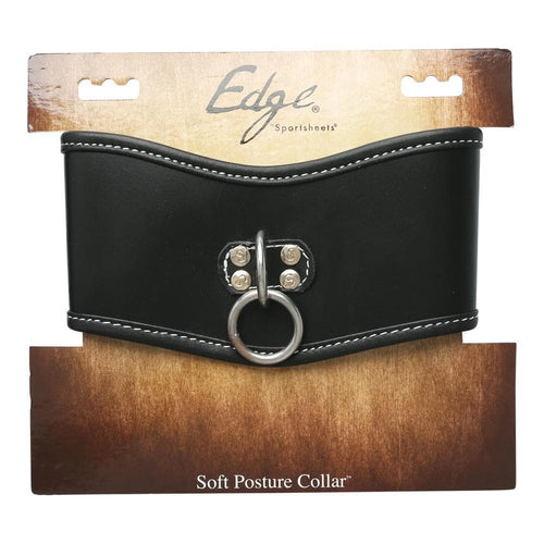 Sport Sheets Edge Soft Leather Posture Collar Black