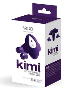 Vedo Vedo Kimi Rechargeable Dual Finger Vibe W- Remote Deep Purple