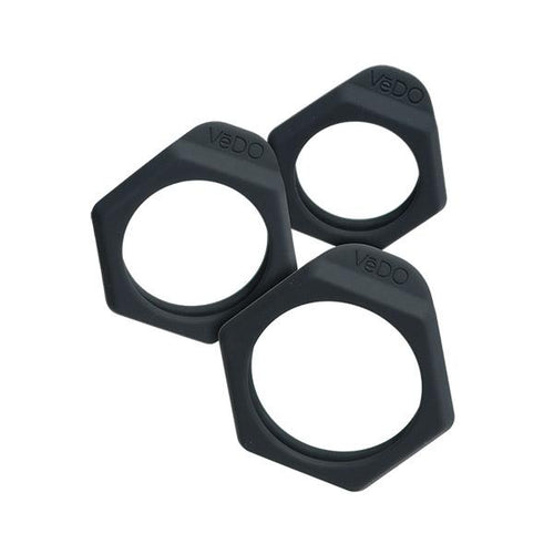 Vedo Vedo Bolt Cock Ring Set Just Black