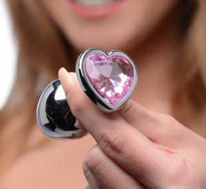XR Brands Booty Sparks Pink Heart Gem Anal Plug Set