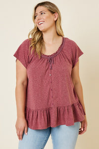 Ruffled Rouge Top
