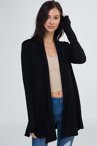 So So Soft Cardigan-Black