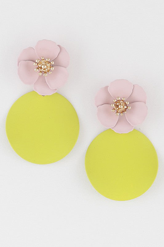 Floral Lemon Drop Earrings