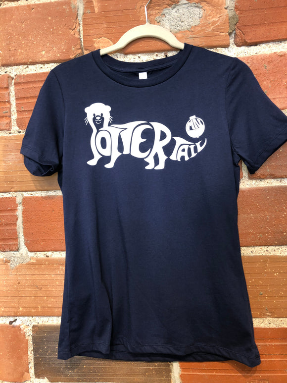 Bobber the Otter Tshirt-navy