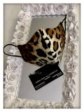 Load image into Gallery viewer, furry double-tone leopard print fabric