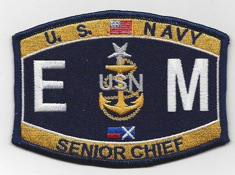 EM Senior Chief Electrician's Mate Navy Rating Patch - EMCS
