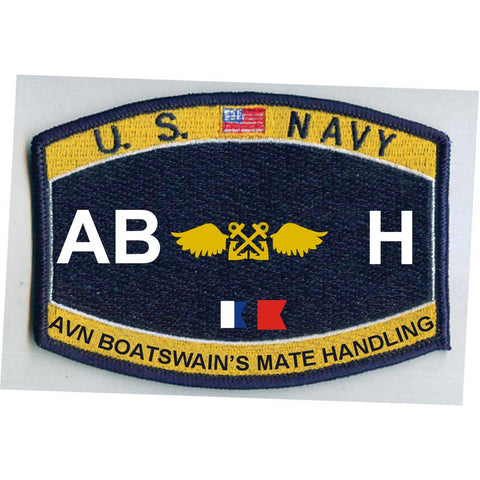 AB H - Aviation Boatswain's Mate Handling Navy Rating Patch