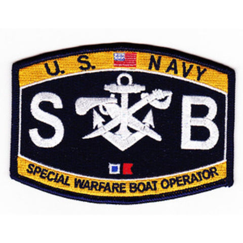 SB - Special Warfare Boat Operator Navy Rating Patch