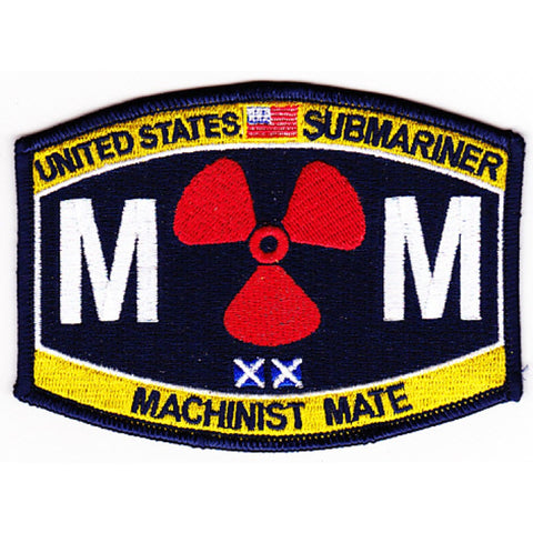MM - Machinist Mate Submariner Rating Patch