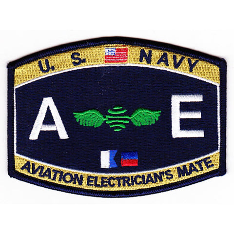 AE - Aviation Electrician's Mate Navy Rating Patch