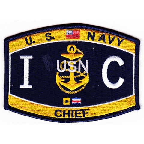 IC Chief Interior Communications Navy Rating Patch