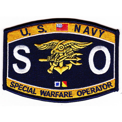 SO - Special Warfare Operator Navy Rating Patch