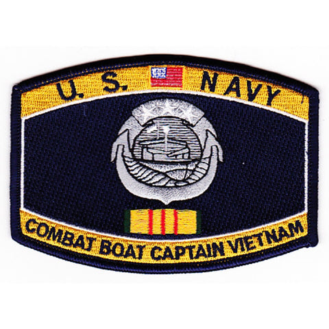 Combat Boat Captain Vietnam Navy Rating Patch